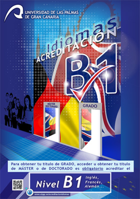 Cartel agreditación B1 idiomas